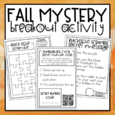 Fall Mystery Breakout Activity