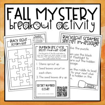 Fall Mystery Breakout Activity