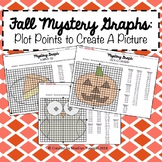 Fall Mystery Graphs - Plot Points on the Coordinate Plane