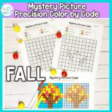 Fall Mystery Picture Color By code: No Prep Fine Motor Precision
