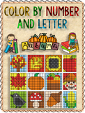 FALL  Mystery Pictures - Color by LETTER And I Just ADDED