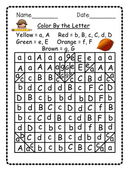 Fall Mystery Picture - FREE- Color By the Letter Activity.