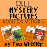 Fall Mystery Pictures Addition Within 5 ~ Fact Fluency