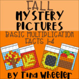 Fall Mystery Pictures Basic Multiplication Facts 1-4 ~ Fact Fluency