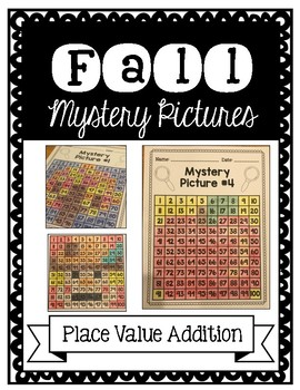 Fall Mystery Pictures: Place Value Addition
