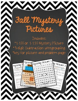 Fall Mystery Pictures - Subtraction