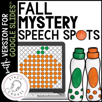 Fall Mystery Speech Spots for Articulation Practice