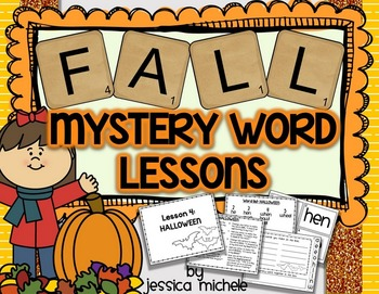 Fall Mystery Words {Making Words Lessons}