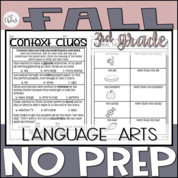 Fall NO PREP ELA Third Grade