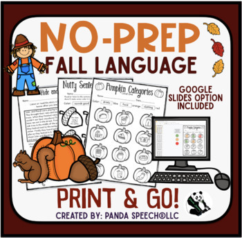 Fall NO PREP Language Pack