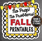 Fall NO PREP Literacy - 3rd Grade