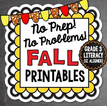 Fall NO PREP Literacy - 3rd Grade