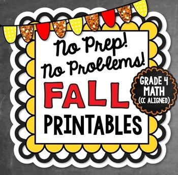 Fall No Prep Math - 4th Grade