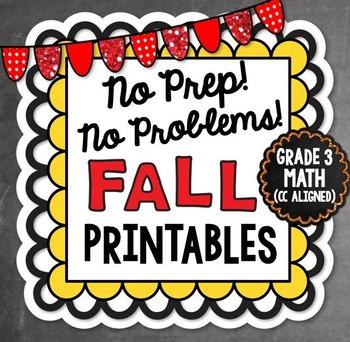 Fall NO PREP Math - 3rd Grade