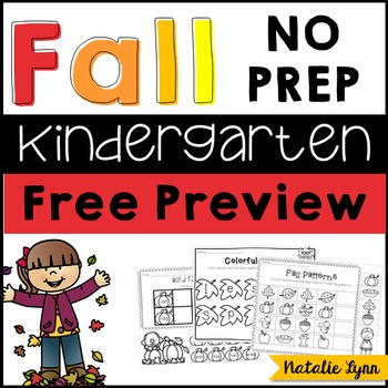 Fall NO PREP Printables Preview FREEBIE