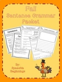 Fall NO PREP Sentence Grammar Packet
