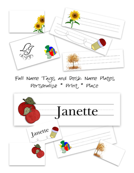 Fall Name Tags and Desk Plates