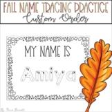 Fall Name Tracing Practice (Custom Order)