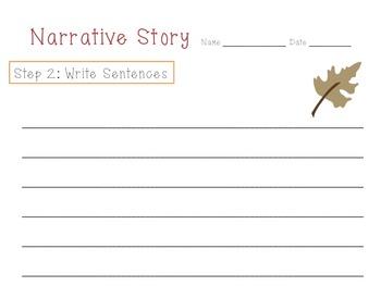 Fall Narrative Writing Pack K-2nd