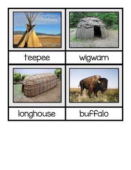 Fall & Native American STEM Build-It Cards