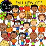 Fall New Kid Clipart {Fall Clipart}
