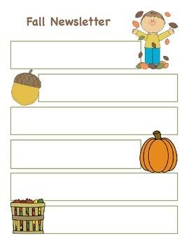Fall Newsletter Pack
