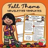Fall Newsletter Templates {FREEBIE}