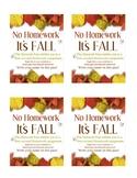 Fall No Homework Pass