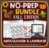 Fall No Prep BUNDLE: Speech & Language Activities (+ Digit