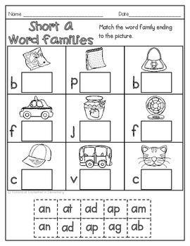 Fall No Prep Math and Literacy Printables for First Grade