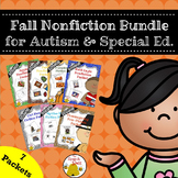 Fall Nonfiction Bundle for Autism and Special Education