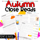 Fall Nonfiction Close Reading Passages
