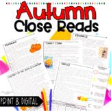 Fall Nonfiction Close Reading Passages