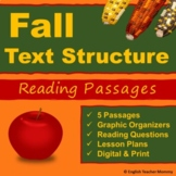 Fall Nonfiction Text Structure Passages and Graphic Organizers