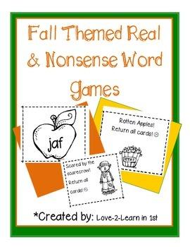 Fall Nonsense Words