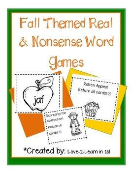 Fall Nonsense Words