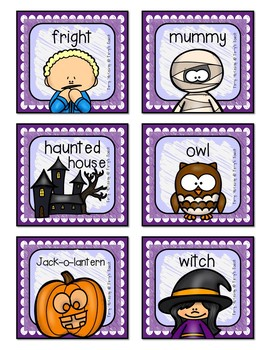 Fall Noun Recognition Cards