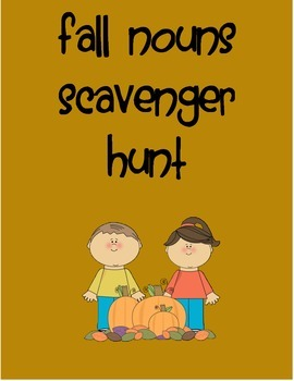 Fall Noun Scavenger Hunt