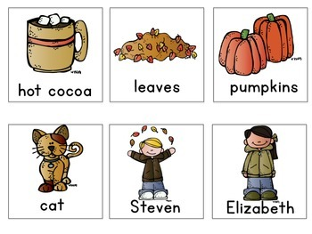 Fall Noun Sort {FREEBIE}