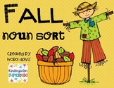 Fall Noun Sort - Person, Place, Thing