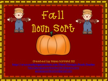 Fall Noun Sorting