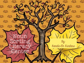 Autumn Noun Sorting Literacy Center