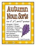 Fall Noun Sorts - Literacy Centers