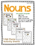 Fall Nouns Coloring Practice