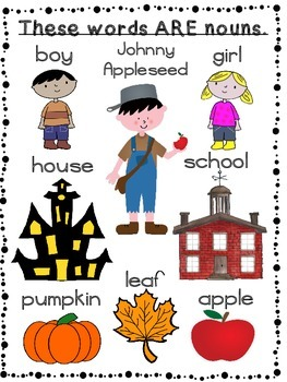Fall Nouns-Lesson Plans with Printable & No Print Activities