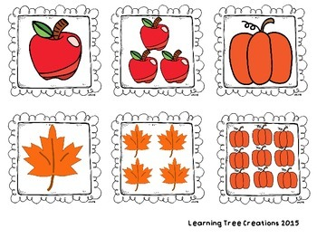 Fall Nouns - Singular and Plural for K-2