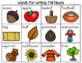Fall Nouns, Verbs, Adjectives, Parts of Speech Word List - Writing Center