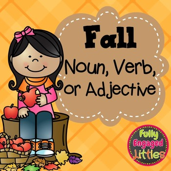 Fall Nouns, Verbs, and Adjectives- Center