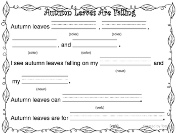 Fall Nouns and Verbs