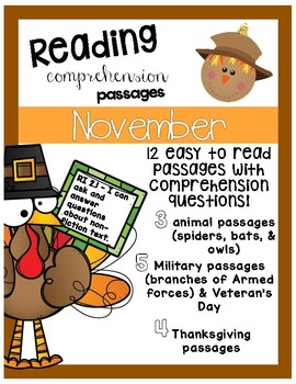 Fall November Reading Passages and Questions